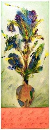 Norman LaLiberte Fine Art Floral Painting IRIS PALE