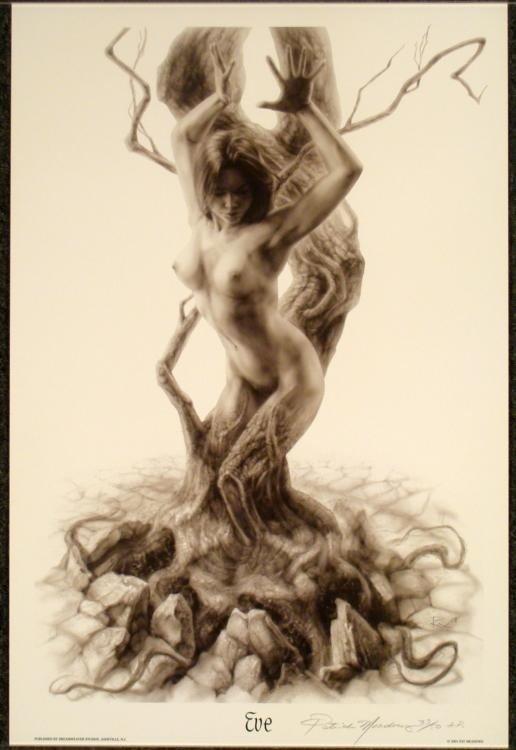 "Patrick Meadows Signed Erotic Fantasy Art Print ""Eve"""