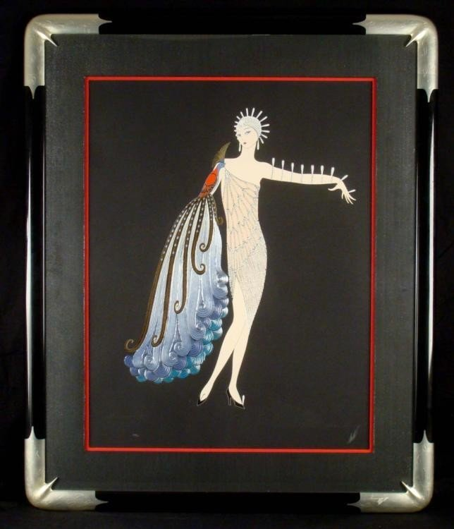 ERTE Diva Suite I & II Signed Framed Prints - 2