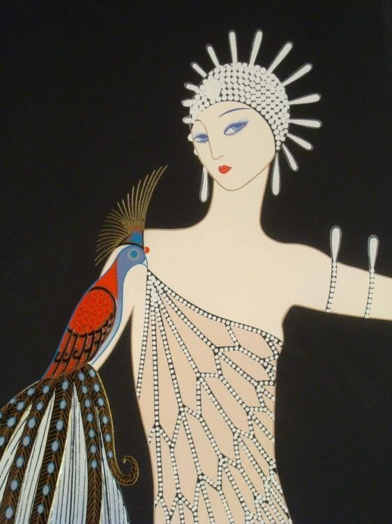 ERTE Diva Suite I & II Signed Framed Prints - 3