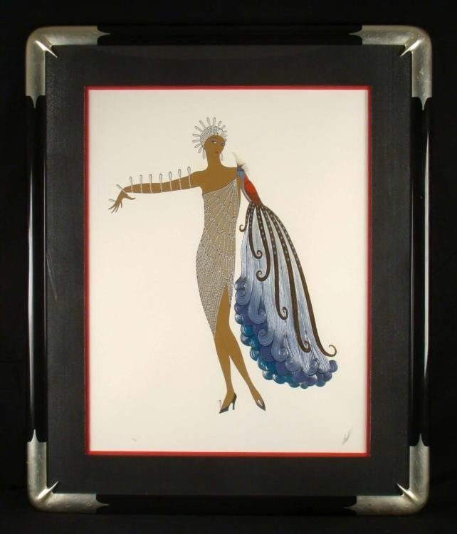 ERTE Diva Suite I & II Signed Framed Prints - 6