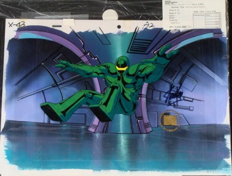 Background Original Animation X-MEN Signed Cel Stan Lee