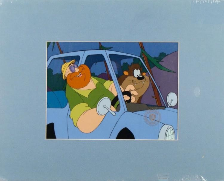 Taz-Mania Orig Animation Production Cel + Background