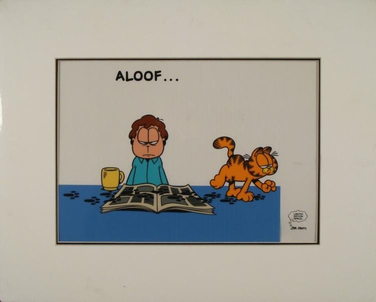 Garfield & Jon Ltd Ed Animation Serigraph Cel -Aloof
