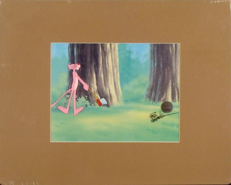 Pink Panther Friz Freleng Orig Signed Production Cel