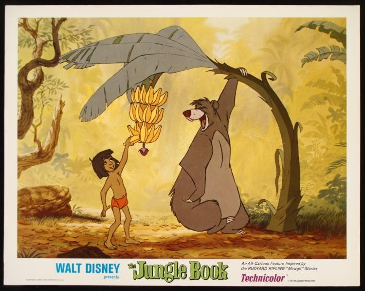 The Jungle Book 1967 Lobby Card Walt Disney Dinner Time