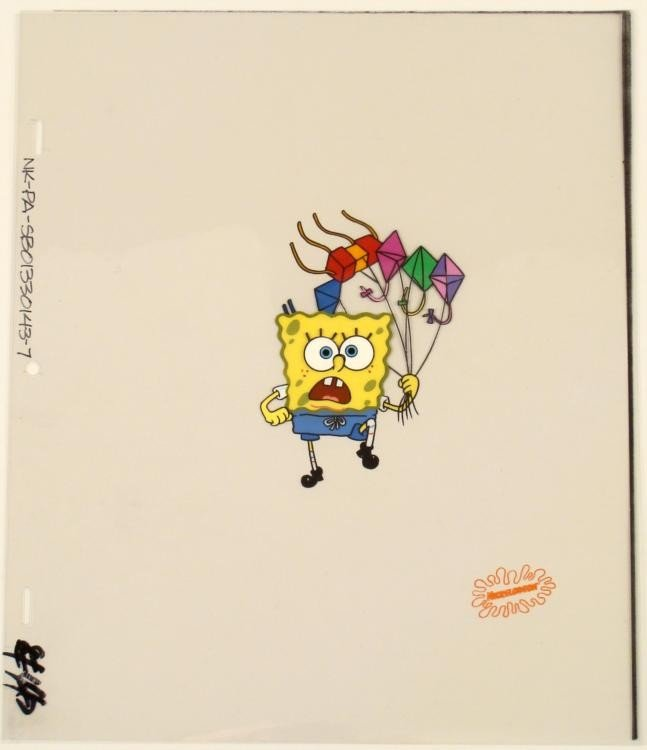 Spongebob Running with Kites Cel Original Production