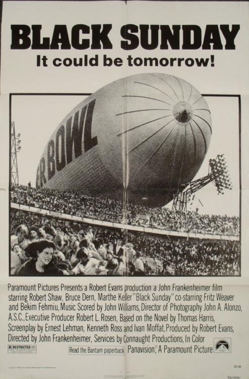 Black Sunday Original 1 Sh Movie Poster Terrorist Film