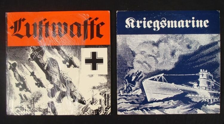 TWO LP'S OF NAZI SONGS MARCHES BATTLE SOUNDS