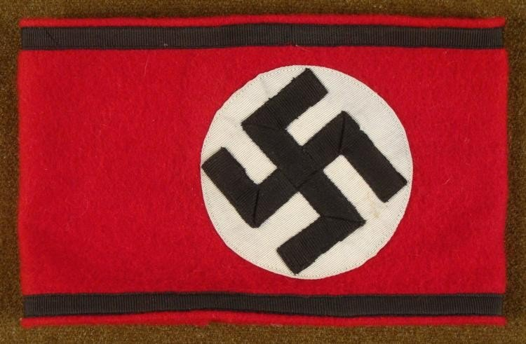 EARLY ORIGINAL NAZI WOOL SS ARMBAND
