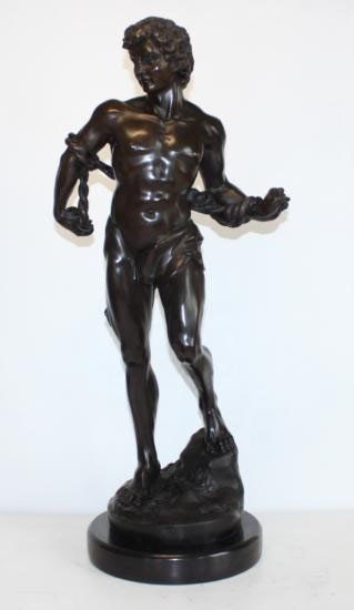 Marvelous Bronze Sculpture Jason and the Golden Flee