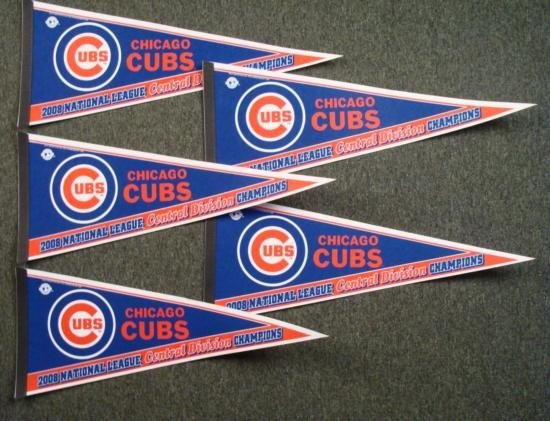 5 Chicago Cubs 2008 NL Central Division Champs Pennant