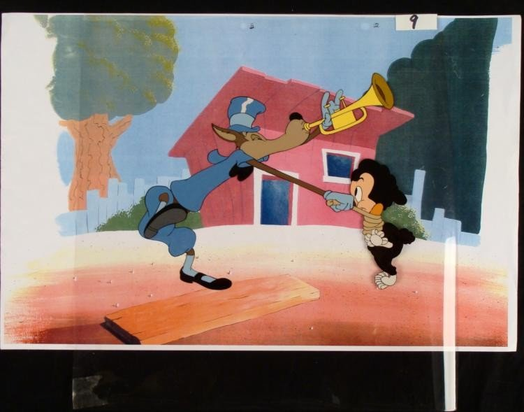 Three Little Pigs Animation Cel Original Senerade Pig