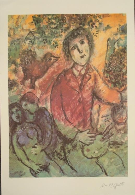 Chagall Artist Interpretation Ltd Ed Numberd Art Print
