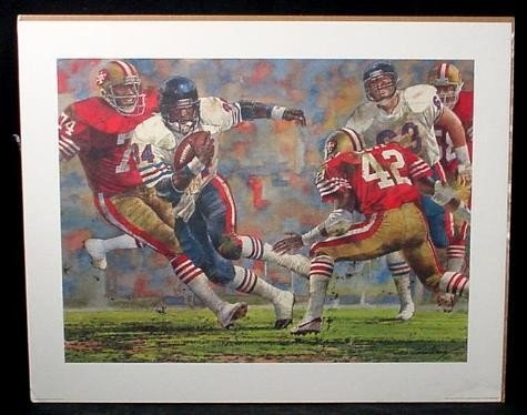 Payton 1985 Chicago Bears Corning Art Print Football