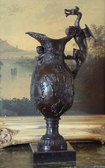 Magnificent Bronze Sculpture Dragon Urn