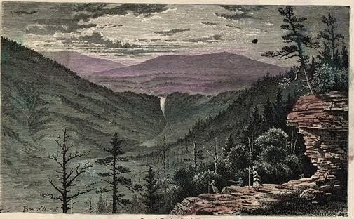 SUNSET ROCK CATSKILL MOUNTAINS Rare Catskill mountain