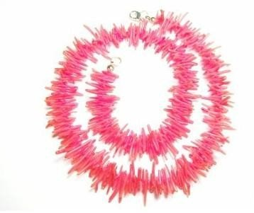 GORGEOUS 16 inch CUPPOLINI style branch Coral necklace