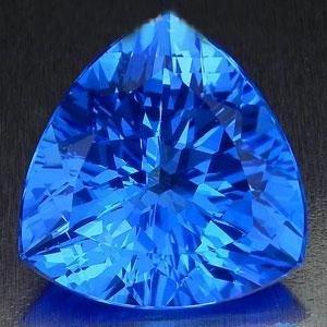 36.00 Carat ORNATE TRILLION NATURAL SUPER SWISS BLUE TO