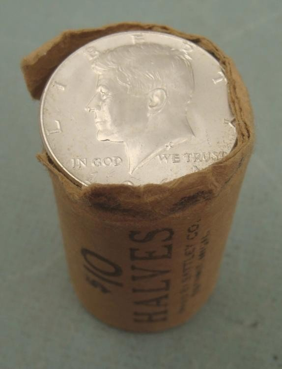 1 Gem UNC Orig Bank Wrapped Roll 1964-P Kennedy Halves
