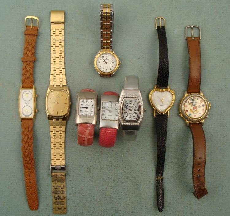 8 Fashion Watches Jungans, Seiko, Mickey Mouse -Working