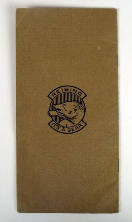 VINTAGE REISING AUTO PISTOL BOOKLET FOR .22 CALIBER - 2