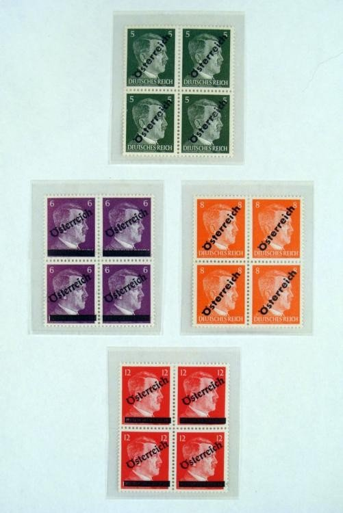 ORIGINAL ADOLF HITLER WWII STAMPS FROM AUSTRIA