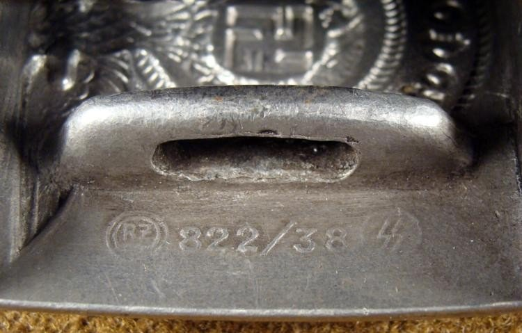SS BELT AND BUCKLE WITH EAGLE AND SWASTIKA ORIGINAL - 3