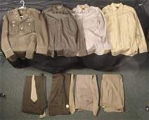 COMPLETE WWII US 8TH AIR FORCE UNIFORM LOTWINGSBARS