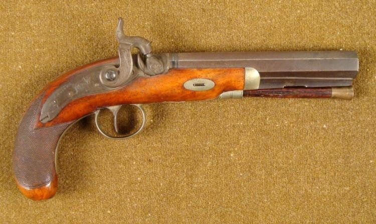 19TH CENTURY ENGLISH PERCUSSION PISTOL WESTLEY RICHARDS