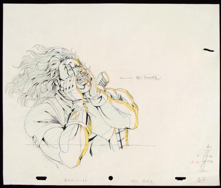 X-MEN Original Drawing Animation Bishop This Can't Be