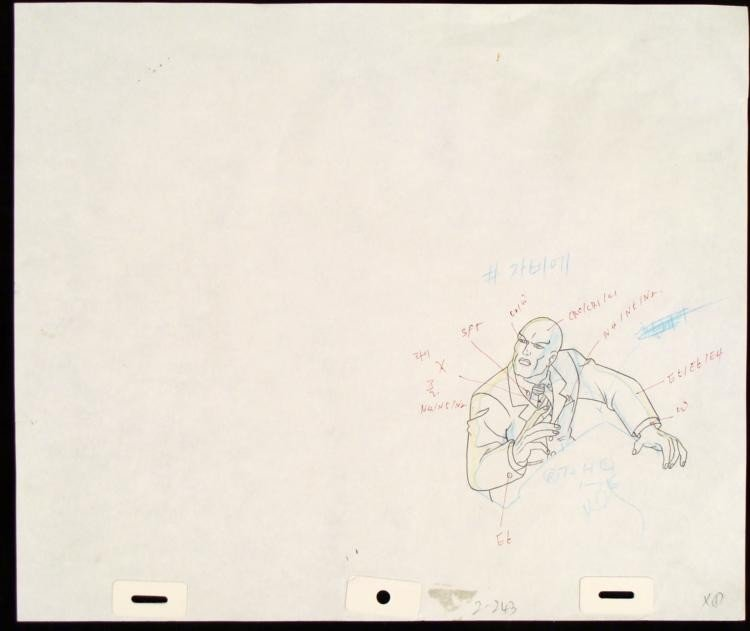 Xavier Original Production Drawing X-MEN Intrigued Art