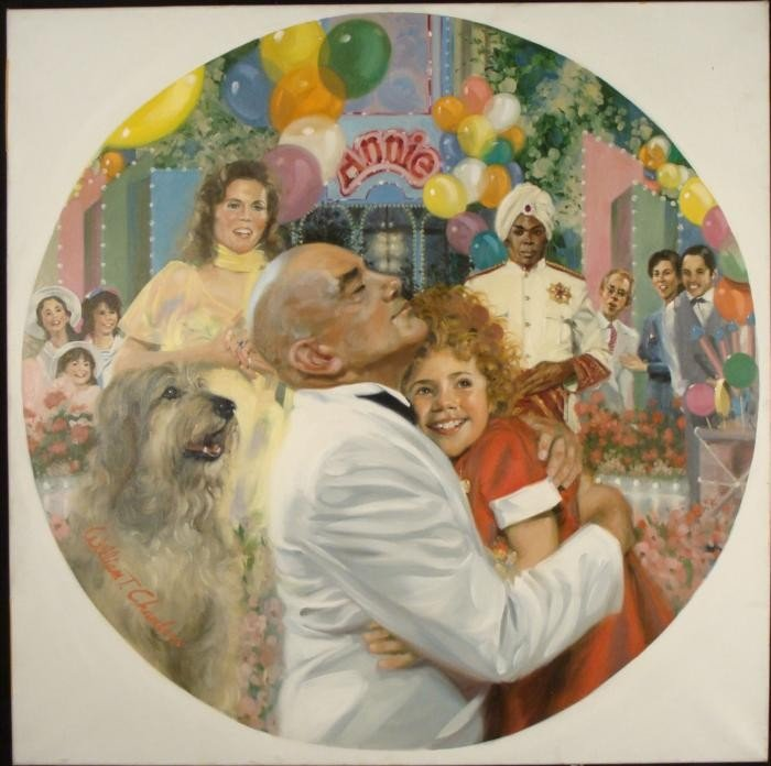 William Chambers Original Art Painting Annie Finale