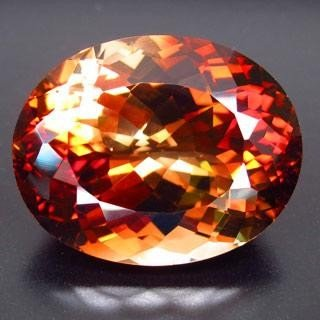 MASSIVE 42.87ct. NATURAL OVAL FACET IMPERIAL TOPAZ MWF1