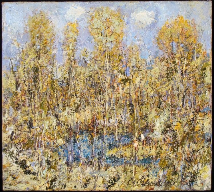 N. Savchenko Original Landscape Painting Russian Artist