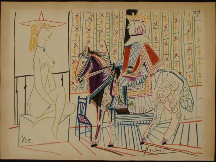Pablo Picasso Original Signed Verve Lithograph 1954 COA