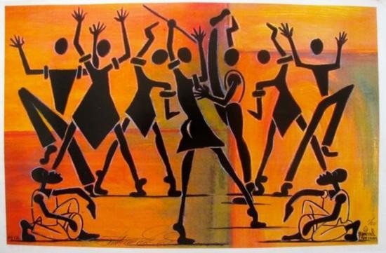 Haitian Dancers Signed Lithograph Limited Edition of 50