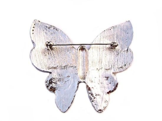 Swarovski Crystal Butterfly Brooch Pin - 2