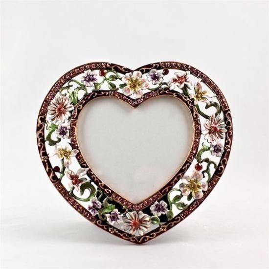 Maroon Heart Faberge Frame