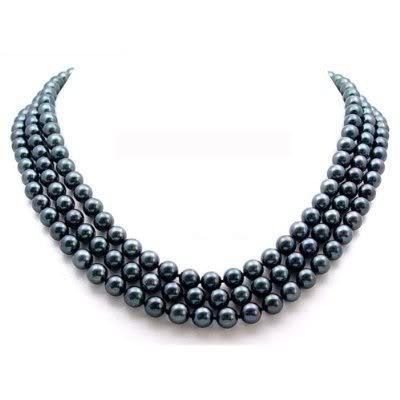 48in SOUTH SEA 8-9MM BLACK PEARL NECKLACE