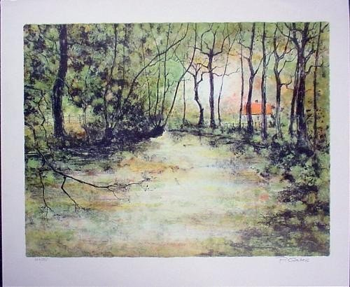 Signed P. Gates Lush and Green LE Art Print THE RIVER