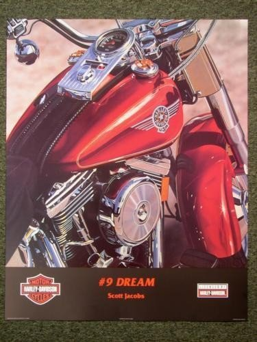 NO.9 DREAM Harley Motorcycle Art Scott Jacobs Poster
