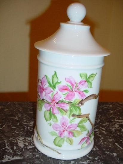 French porcelain Apothecary pot signed by M. Dugue