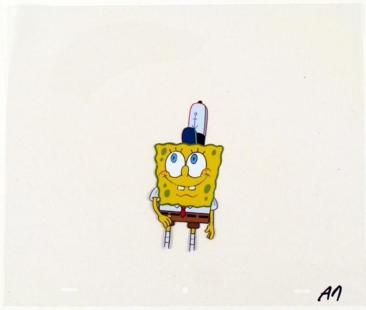 Original Happy Sponge Animation SpongeBob Art Cel