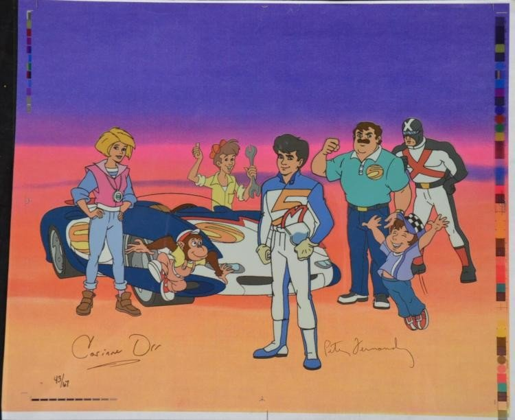 Speed Racer 2 Voice Signed Ltd Ed Animation Cel