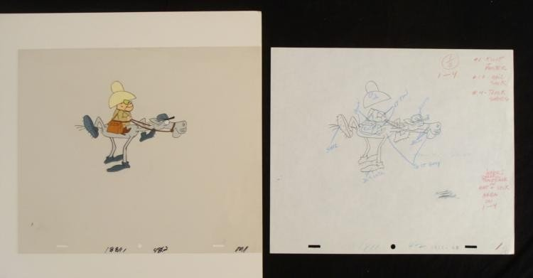 Drawing Hoot Kloot Original Animation Cel New Mailman