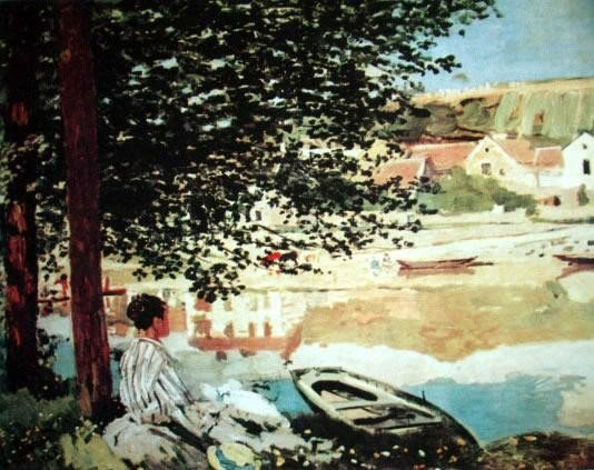 The River By Monet Numbered Giclee 17x22 1/2 Canvas