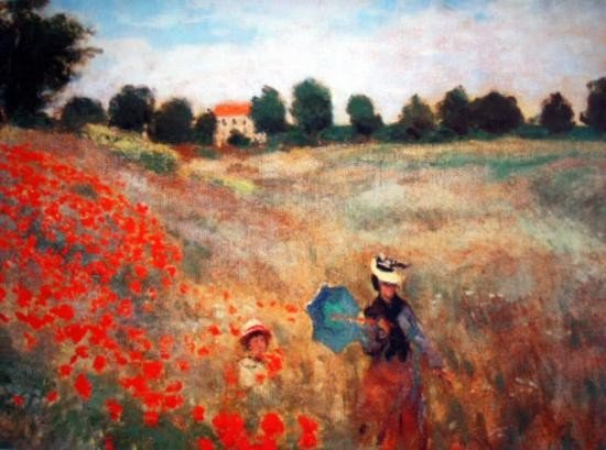 PoppiesatArgenteuilbyMonetNumbered Giclee17x22 1/2 Canv