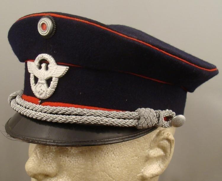 ORIGINAL NAZI WWII FIRE POLICE OFFICER'S VISOR HAT