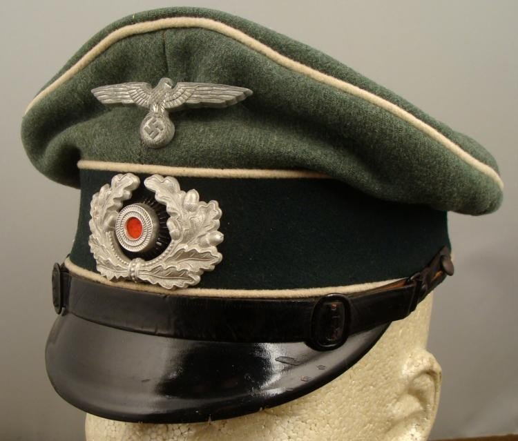 WWII Nazi NCO Army Wehrmacht Infantry Crusher Cap